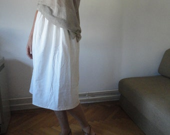 OUTFIT nr. 45 // soft simple linen skirt with linen jersey top