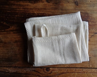 very soft wash MITTEN / glove, face CLOTH or TOWEL,  handmade from very soft organic cotton double gauze