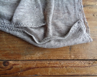 linen jersey TOP / VEST _ straight cut, hand made from linen jersey in different colors _ natural, creme, melange, blue or pink