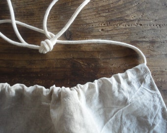 light weight linen APRON for gardening or other home / hand crafts, hand-made from light and soft linen in natural, white or melange