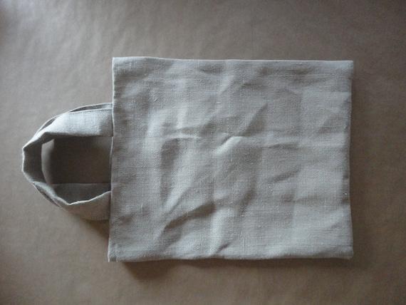 natural HEMP tote / shopper / market bag, hand-made from very heavy and rough natural hemp