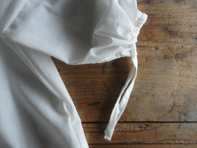 simple cotton peasant BLOUSE with ties and 3 / 4 or long image 0