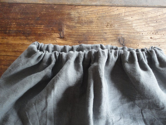 simple heavy linen SKIRT (short, midi, long) with knitted pockets/belt or without, made from heavy linen and cotton yarn in different colors