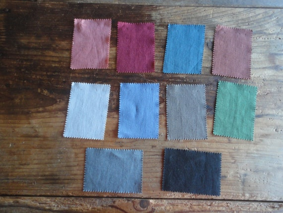 colored LINEN in different colors / qualities (soft light, rustic heavy, stonewashed) _ fabric by yard // MALAfabrics