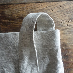 wool-linen TOTE  HAND BAG hand-made from double-colored linen in antracite and brown