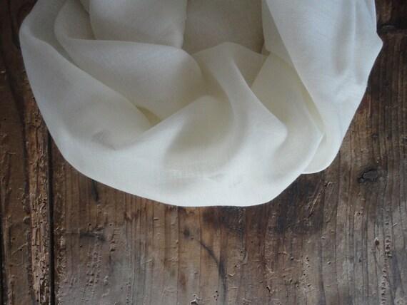 light wool SHAWL / SCARVE, soft / raw / pure / eco / gauze