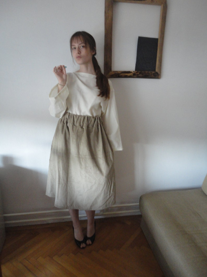corduroy SKIRT short midi long / with pockets or without  image 0