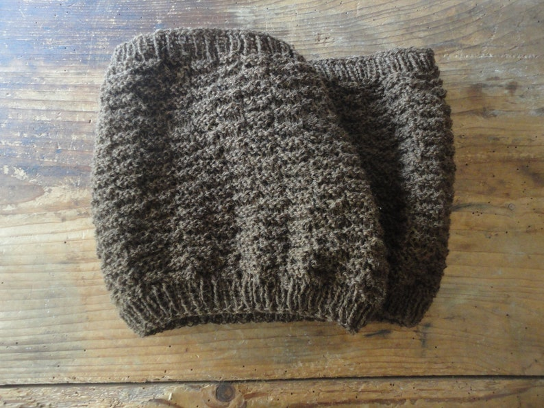 hand knitted LOOP / SCARVE / neck or back WARMER hand made image 0