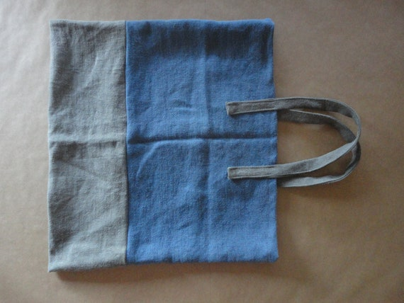 stonewashed HEMP tote / shopper / market bag, hand-made from very heavy and rough stonewashed hemp in different colors