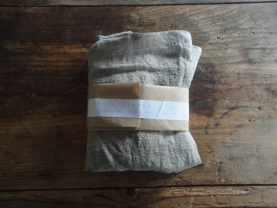 crinkled LINEN tote / market bag _ small, hand-made from midi weight crinkled / wrinkled linen in different colors