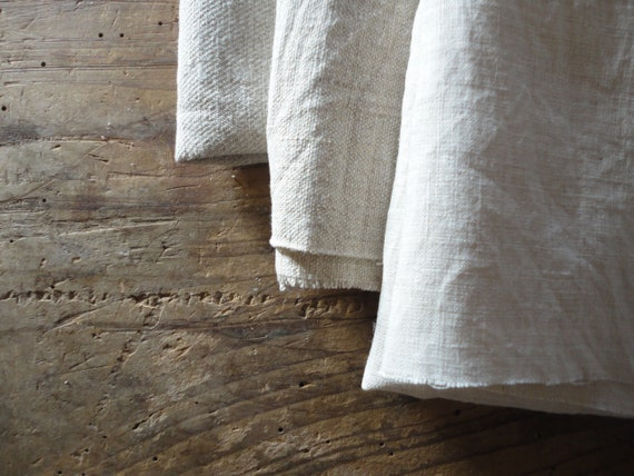 natural or colored HEMP in different qualities (colored & stonewashed, twill, soft, rough) / weights _ fabric by yard // MALAfabrics