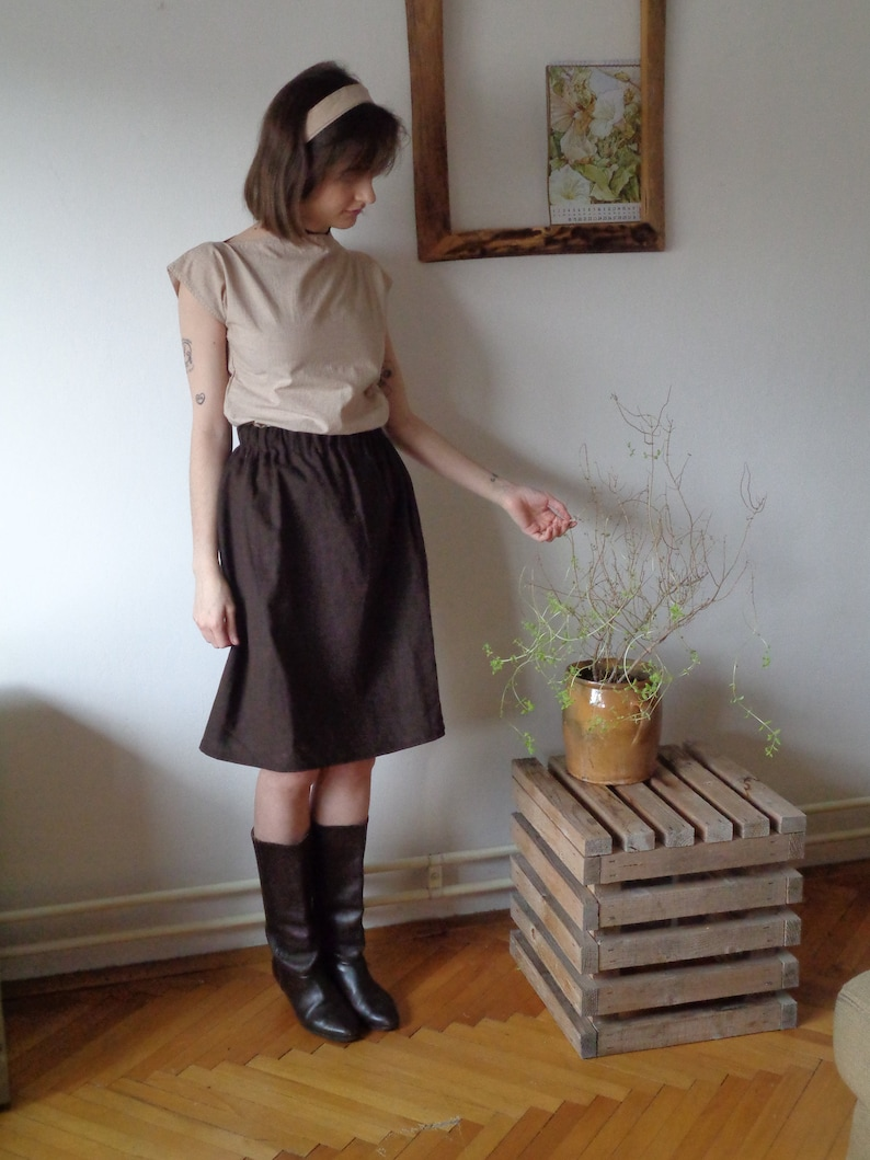 simple organic cotton TOP with belt made from soft organic image 0