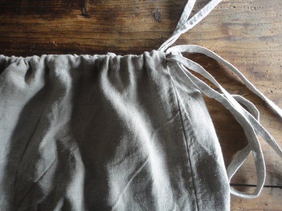 raw linen SKIRT (short, midi, long) with tie belt, handmade from very heavy raw linen in natural color