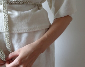 OUTFIT nr. 9, aw 2021 // soft hemp skirt and hemp jersey top in creme (size S - M)