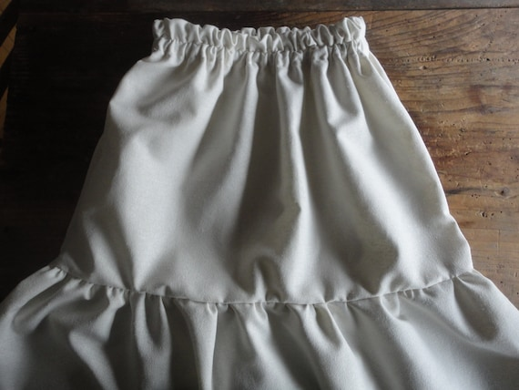 soft wild / raw silk SKIRT (short, midi, long) _ fluffy / ruffled, handmade from very soft and light raw / wild silk in creme