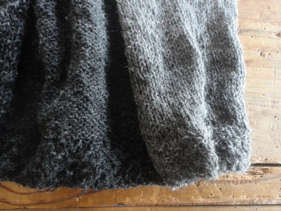 knitted VEST, hand knitted from natural wool in different shades // can be made in one color or your color combination