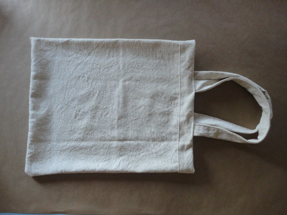 rough WILD / RAW SILK tote / shopper / market bag, hand-made from heavy and rough raw / natural silk