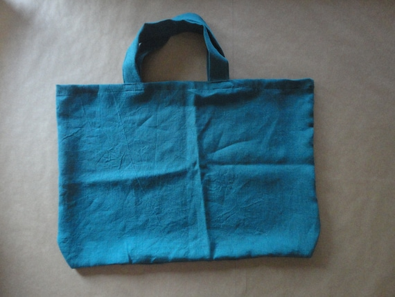 simple LINEN market bag, hand-made from heavy weight linen in natural, white or other colors