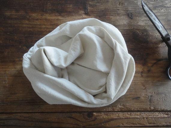 wild silk / raw silk SHAWL / SCARVE, soft / unbleached / raw / pure / eco