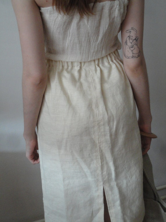heavy HEMP skirt (short, midi, long / with pockets or without), handmade from heavy linen in natural, creme or beige