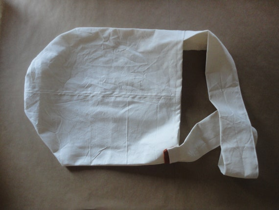 raw cotton COTTON shoulder bag / over the shoulder bag, hand-made from heavy raw cotton canvas