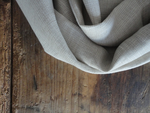 structured linen SHAWL / SCARVE, raw / pure / eco / vegan / cool / natural