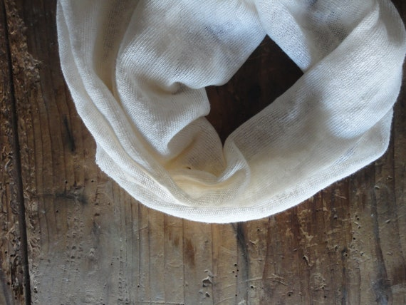linen jersey SHAWL / SCARVE _ made from linen jersey in creme or other color