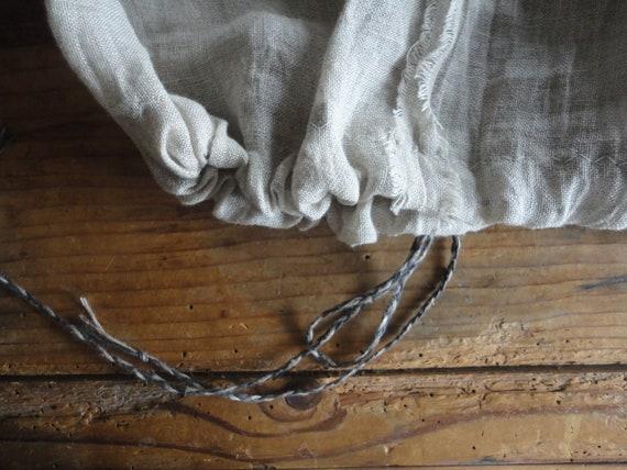 raw linen gauze SKIRT (short, midi, long) with linen tie belt, handmade from raw linen gauze in natural color