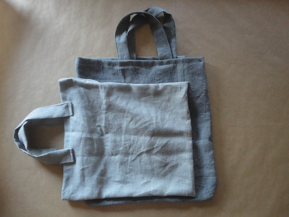 simple LINEN tote / market bag _ wide, hand-made from heavy weight linen in natural, white or other colors // NEW SHADES