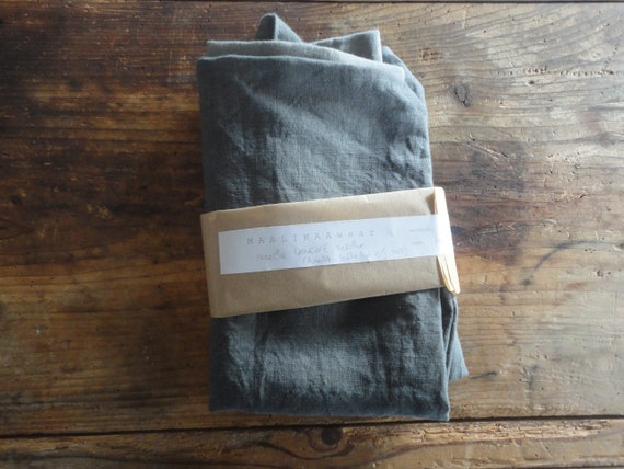 simple LINEN tote / market bag _ narrow, hand-made from heavy weight linen in natural, white or other colors