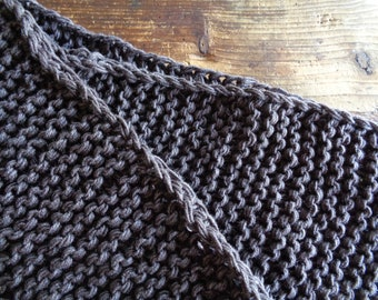 very heavy soft wool RUG / BLANKET / THROW, hand knitted from natural wool in different colors // eco, sustainable