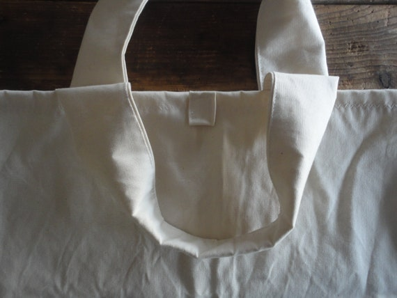 wide cotton TOTE / SHOPPER / MARKET / shopping bag, hand-made from firm organic cotton canvas in creme/off white, blue, brown, rust, black