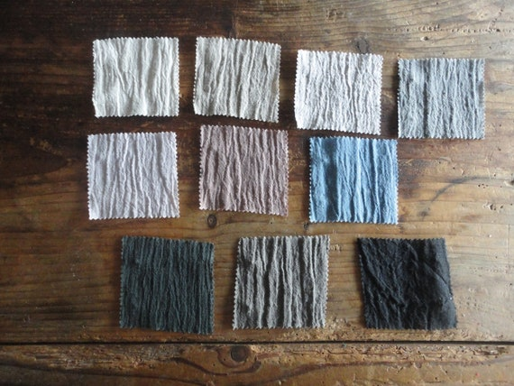 crinkled linen SHAWL / SCARVE _ made from midi-weight crinkled / wrinkled linen in different colors // new fabric, new shades