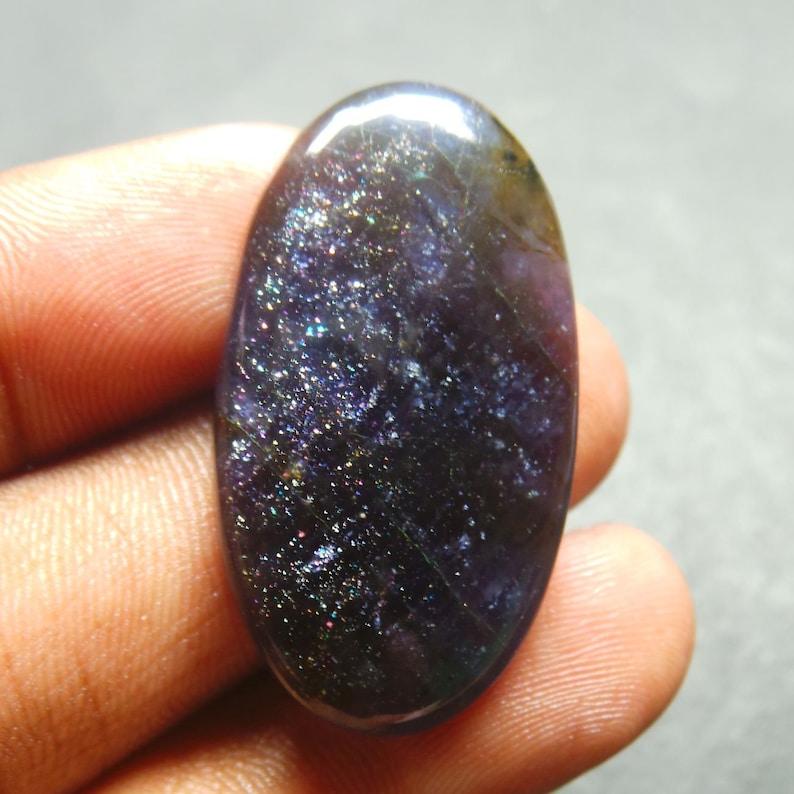 Fancy Shape iolite Sunstone Gemstone,Cabochon,Top Quality iolite Loose Gemstone iolite Sunstone 19.5 Cts 26x12x5mm 100/% Natural AAA Rare