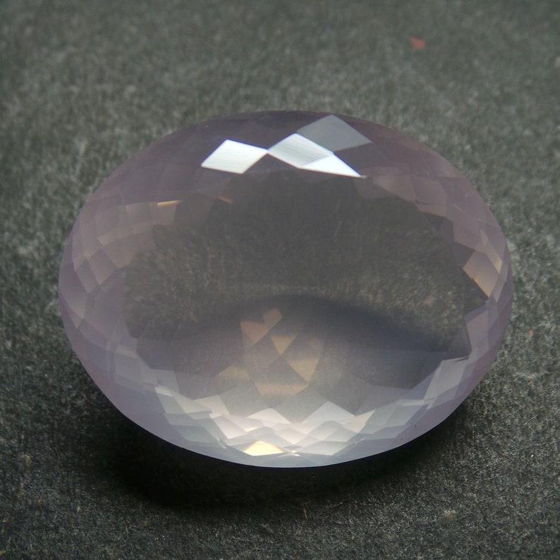 Rose Quartz Gemstone Cut-Rose Quartz Cuts-Natural Rose Quartz Faceted Cut Oval Stone-Rose Quartz Cut Stones-34x27x16 MM-Wholesalegems