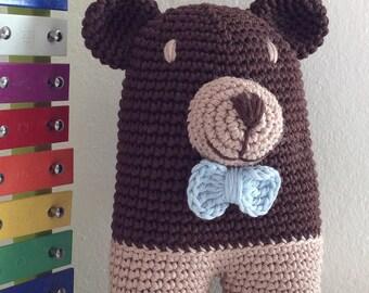 Elia il Signor Orso. Pupazzo, uncinetto, SU ORDINAZIONE, amigurumi, crochet, soft toy, doudou, bambini, peluches