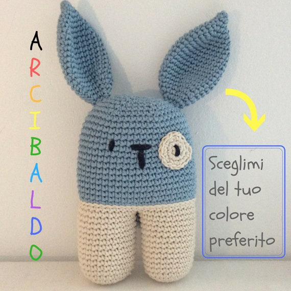 Bunny Crochet Gift Idea Personalized Kids In Your Favorite Color Nice Toy For Kids New Moms Gift
