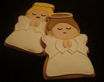 Angel Cookies Custom Decorated Christmas Cookies Holiday Sugar Cookie
