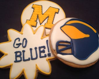 University of Michigan Cookie favors | Michigan Wolverines | College mascot