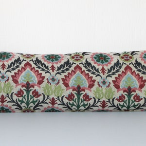 tulips /& pomegranate Uzbek suzani ethnic pillow cover with embroidered flower sun in circle of life pepper 16.54 x 18.5 inch  42 x 47 cm