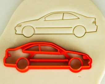Ej Sedan 2X Car silhouette stickers 6th generation for Honda Civic Ek