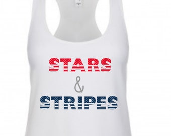 Stars and Stripes Shirt, 4th of July Tank, 4th Of July Shirt, Stars Stripes, Stars and Stripes Shirts, memorial day tank, womens 4th