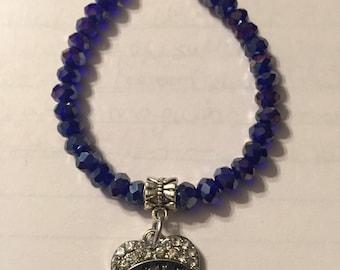 Sister charm magnetic bracelet