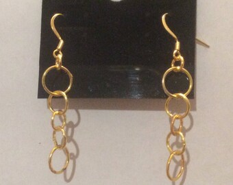 Hoop earrings HANDMADE WITH LOVE