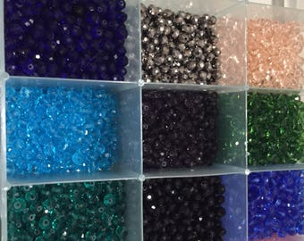 Sale!Sale!!100 pc 6 mm glass round crystal beads in bulk  2 days only Sale sale sale  Huge blowout sale by five get one free