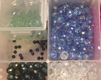 Sale!  65 piece 8 mm shinny glass beads ab bulk  SALE!!!!