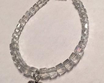 Heart charm magnetic bracelet