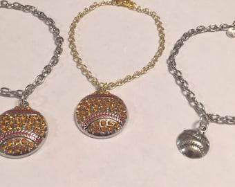 Softball chain bracelets