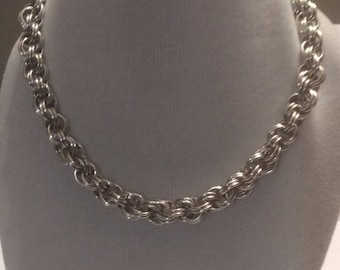 Spiral Necklace Chainmaille HANDMADE WITH LOVE