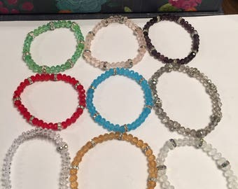 2 pk Birthstone stretch bracelet 2 pack